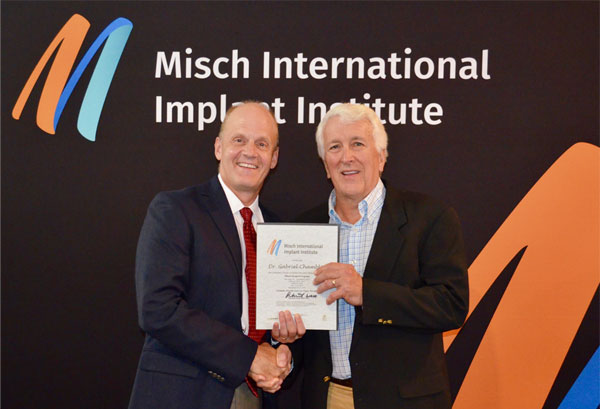 Dr. Gabriel A Chamblin graduates from The Misch Implant Institute